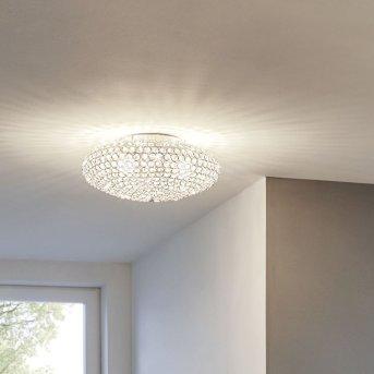 Plafonnier Eglo CLEMENTE Chrome, Aspect cristal, 2 lumières