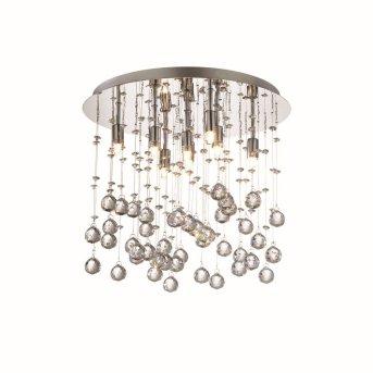 Plafonnier Ideal Lux MOONLIGHT Chrome, Aspect cristal, 8 lumières