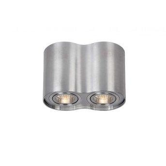Spot Lucide TUBE Nickel mat, 2 lumières