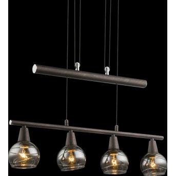 Suspension Globo Isla LED Bronze, 4 lumières