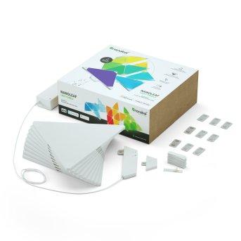 Applique murale Nanoleaf Rhythm Starter Kit 9 Panneaux LED Blanc, 1 lumière, Télécommandes, Changeur de couleurs