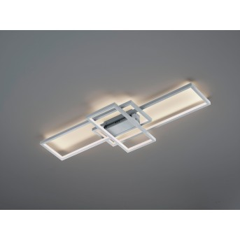 Plafonnier Trio THIAGO LED Nickel mat, 1 lumière, Télécommandes, Changeur de couleurs