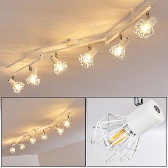 Plafonnier Gullspang Blanc, 6 lumières