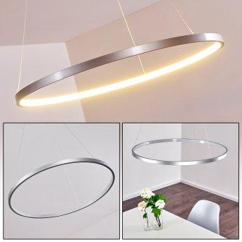Suspension Canisteo LED Argenté, 1 lumière