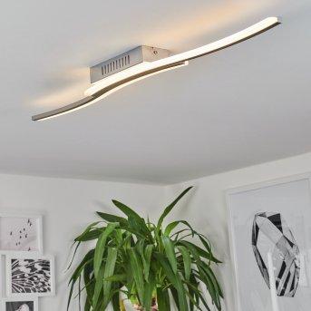 Plafonnier Rosselo LED Nickel mat, 1 lumière