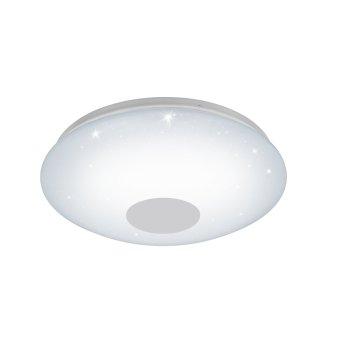 Plafonnier Eglo VOLTAGO-C LED Blanc, Aspect cristal, 1 lumière, Changeur de couleurs