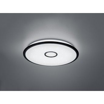 Plafonnier Trio Okinawa LED Noir, 1 lumière, Télécommandes