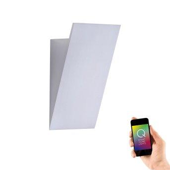 Applique murale Paul Neuhaus Q-WEDGE LED Aluminium, 1 lumière, Télécommandes, Changeur de couleurs