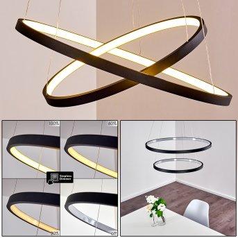 Suspension Canisteo LED Noir, 2 lumières