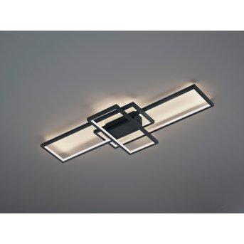 Plafonnier Trio THIAGO LED Anthracite, 1 lumière, Télécommandes, Changeur de couleurs