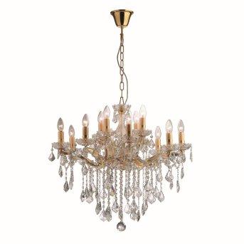 Lustre Ideal Lux FLORIAN Or, 12 lumières