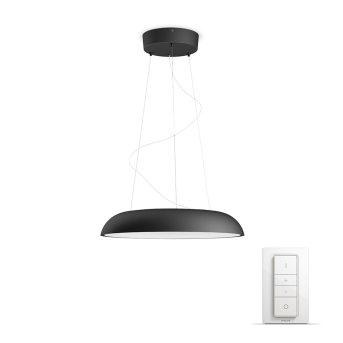 Suspension Philips Hue Ambiance White Amaze LED Noir, 1 lumière, Télécommandes