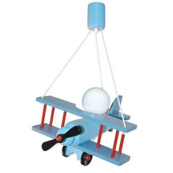 Suspension Waldi Doppeldecker Bleu, Rouge, 1 lumière