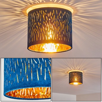 Plafonnier Liared Nickel mat, 1 lumière