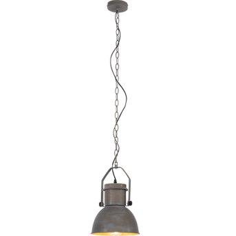 Lampe pendante Brilliant Salford Gris, 1 lumière
