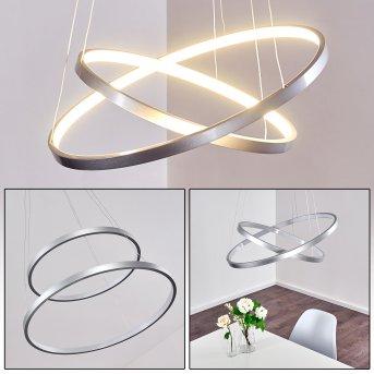 Suspension Canisteo LED Argenté, 2 lumières