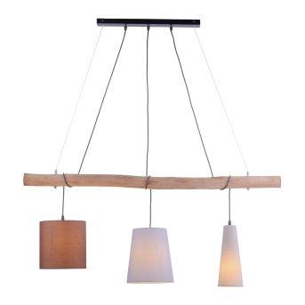 Suspension Leuchten Direkt DAMIAN Brun, 3 lumières
