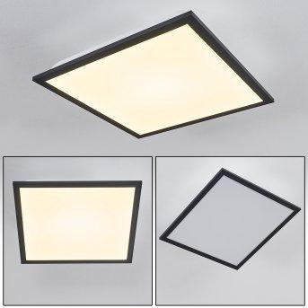 Plafonnier Salmi LED Noir, Blanc, 1 lumière