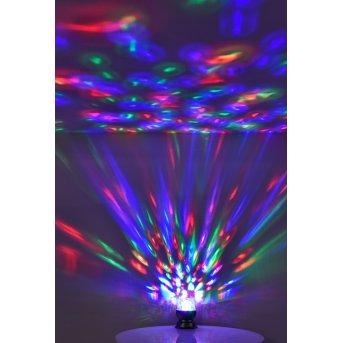 Lampe à poser Leuchten Direkt DISCO LED Noir, 1 lumière, Changeur de couleurs
