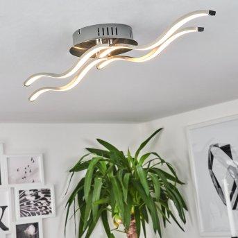 Plafonnier TARENT LED Acier brossé, 1 lumière