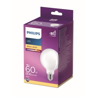 Philips LED Globe E27 9,5 Watt 2700 Kelvin 806 Lumen