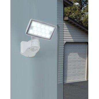 Applique murale d'extérieur Lutec PERI LED Blanc, 1 lumière, Détecteur de mouvement