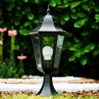Borne lumineuse noire Noir, Transparent, 1 lumière