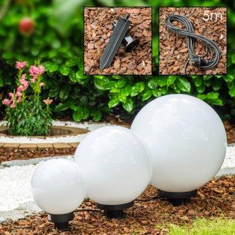 Set de boules lumineuses Miau Blanc, 3 lumières
