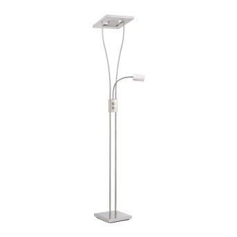 Lampadaire à vasque Leuchten Direkt Helia LED Nickel mat, 2 lumières, Télécommandes, Changeur de couleurs