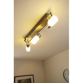 Plafonnier Trio 8214 LED Chrome, Aluminium, Acier inoxydable, 3 lumières