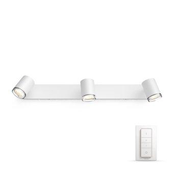 Spot Philips Hue Ambiance White Adore Blanc, 3 lumières, Télécommandes