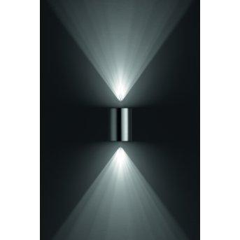 Applique murale d'extérieur Philips Buxus LED Acier inoxydable, 2 lumières