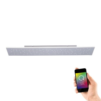 Plafonnier Paul Neuhaus Q-NIGHTSKY LED Aluminium, 1 lumière, Télécommandes
