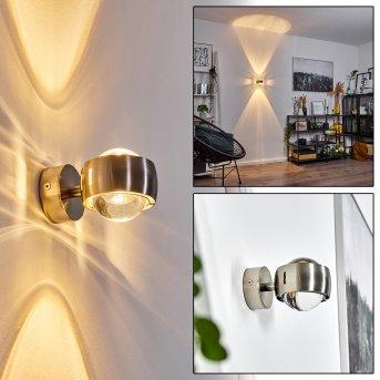 Applique murale Hofstein Sapri Nickel mat, 1 lumière