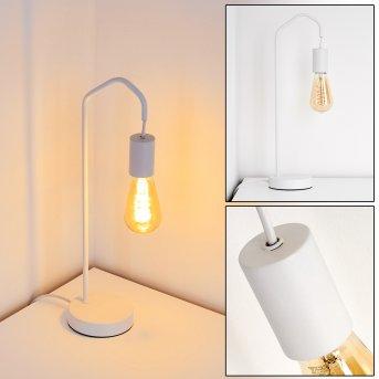 Lampe de table Cuyama Blanc, 1 lumière