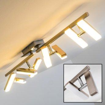Plafonnier Sakami LED Nickel mat, 8 lumières