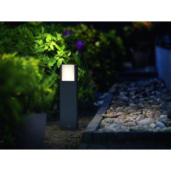 Borne lumineuse Philips myGarden ARBOUR LED Gris, 1 lumière