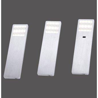 Luminaires sous meuble Paul Neuhaus HELENA LED Aluminium, 1 lumière, Détecteur de mouvement