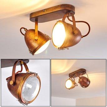 Plafonnier Butikon Rouille, 2 lumières