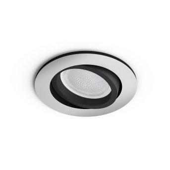 Spot encastrable, kit d'extension  Philips Hue Ambiance White & Color Centura Argenté, 1 lumière, Changeur de couleurs