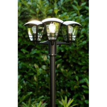 Réverbère Philips myGarden CREEK Noir, Transparent, 3 lumières