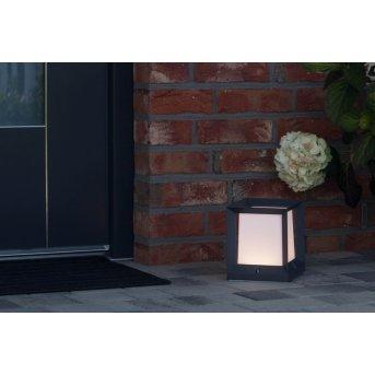 Borne AEG KUBUS LED Anthracite, Blanc, 1 lumière