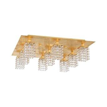 Plafonnier Eglo PYTON GOLD Or, Aspect cristal, 9 lumières
