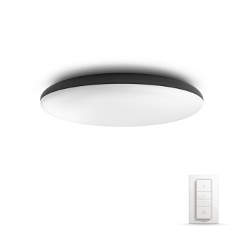 Plafonnier Philips Hue Ambiance White Cher LED Noir, 1 lumière, Télécommandes