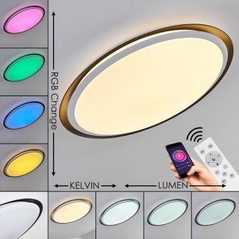 Plafonnier Vejle LED Blanc, 2 lumières, Changeur de couleurs