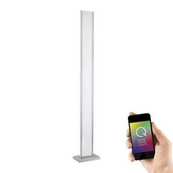Lampadaire Paul Neuhaus Q-ROSA LED Acier inoxydable, 1 lumière, Télécommandes
