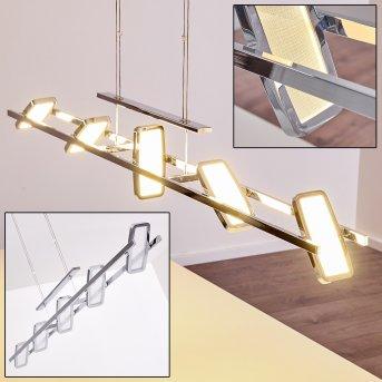 Suspension Gravendal LED Chrome, 5 lumières