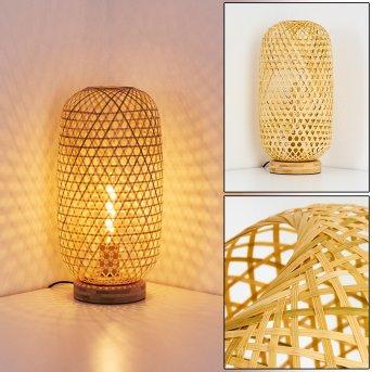 Lampe de table Batumi Brun, 1 lumière