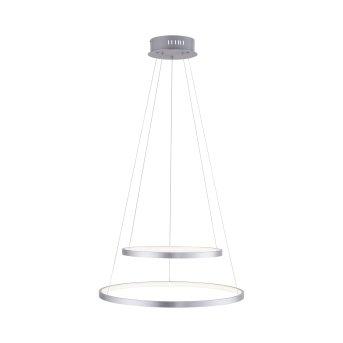 Suspension Leuchten Direkt Ls-CIRCLE LED Acier inoxydable, 1 lumière, Télécommandes, Changeur de couleurs
