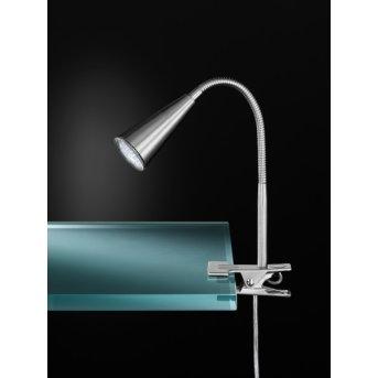 Lampe à poser Wofi ARCOS Nickel mat, 1 lumière